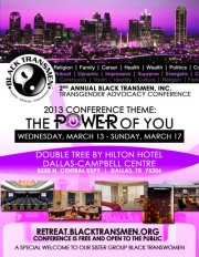 Gender Reel supports the power of Black Transmen and their 2013 conference!
